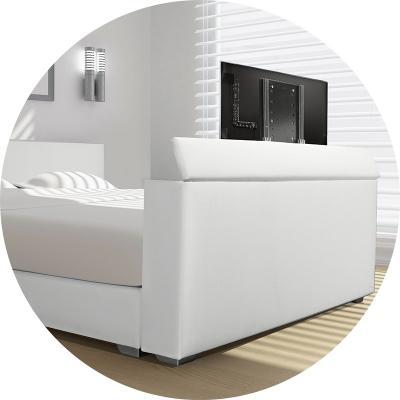 Boxspring met TV lift; lekker TV kijken vanuit uw bed!